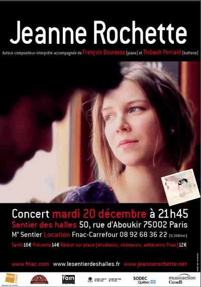 Jeanne Rochette, tournée Paris déc 2011