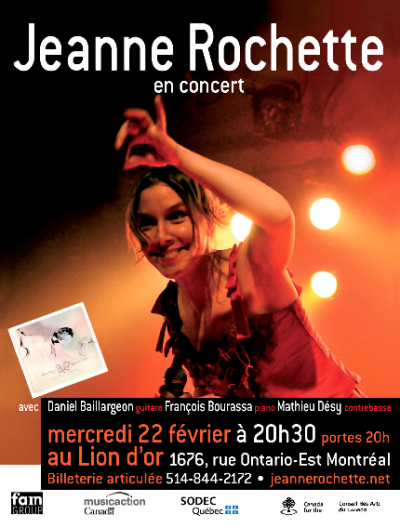 Flyer, concert Lion d'Or